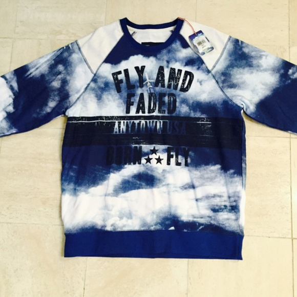 Born Fly Shirts Fly And Faded Sweatshirt Poshmark